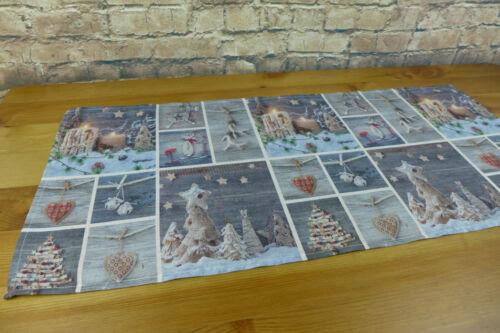 Mitteldecke Tischdecke Tischläufer Größenwahl Weihnachten Druck grau W-195