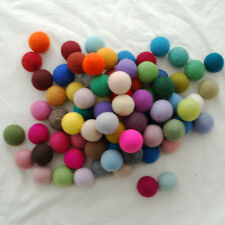 100% Wool Felt Balls - 4cm - 72 Count - 72 Colours