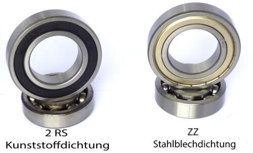 Kugellager Rillenkugellager 6005 ZZ o 2RS Auswahl  25x47x12 mm Indsutrie