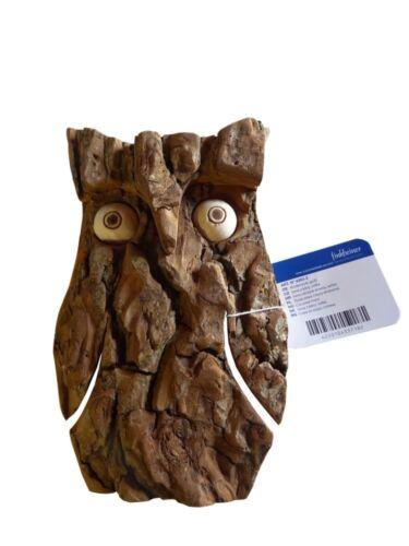 Finkbeiner 4353-2 Rindeneule Waldeule EULE 16x10 cm 4 cm tief Ahornholz Rinde
