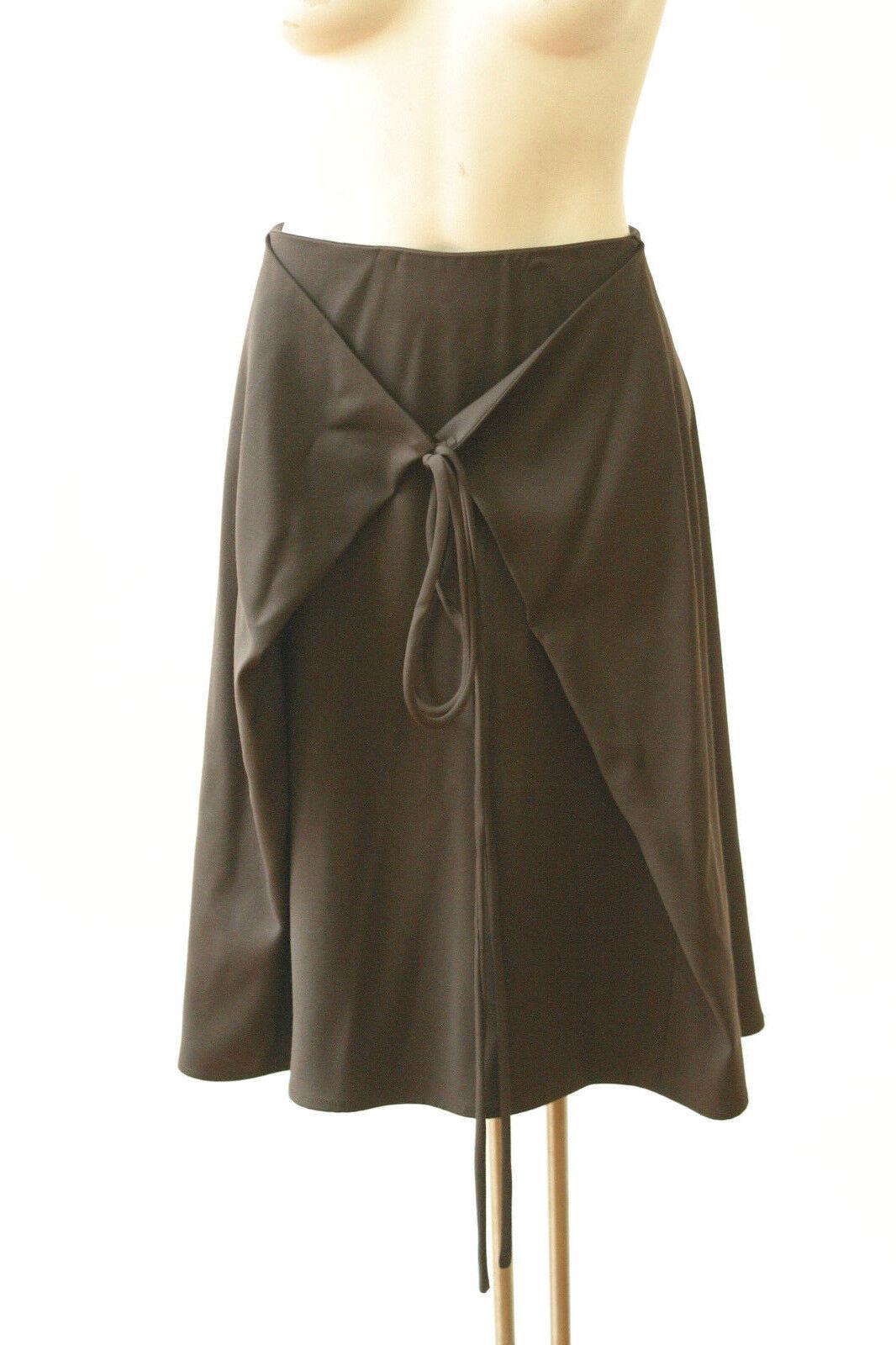 NWOT Gianfranco Ferre Skirt Avant Garde Brown Wool Knee Length 44