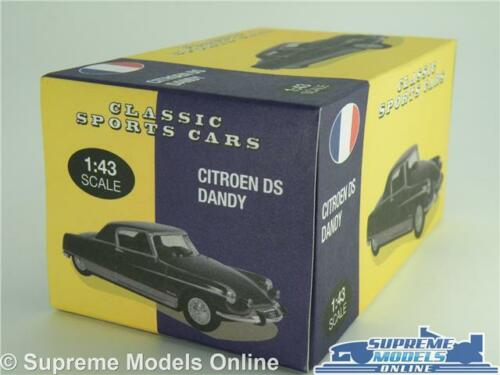 CITROEN DS COUPE LE DANDY CAR MODEL 1:43 SIZE BLUE 1967 2 DOOR ATLAS NOREV T3