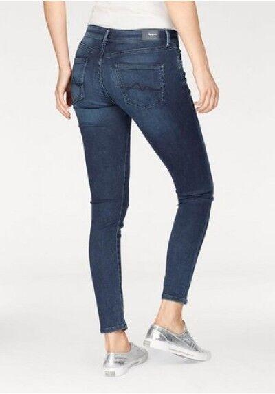 Pepe Jeans London Pixie W26 L30 NEU Blau Damen Skinny Hose Stretch Denim Slim