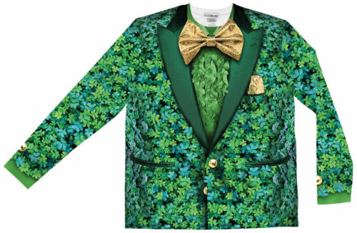 Faux Real Shamrock Suit Sublimated Photorealistic St Pattys Day Costume F127862