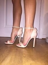 Roberto Cavalli High Heels Barely There Sandals Bridal Strappy 38 BNIB Pink UK 5
