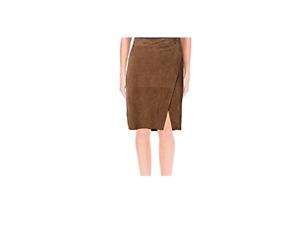 598 nyA Lauren Lauren kvinnor mocka läder Pencil kjol Sz 8 eller 12