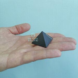 Shungite Pyramid Pocket Size Natural surface Karelian shungite Stone, Tolvu