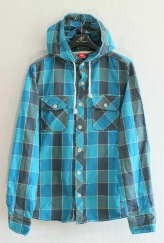 ENGELBERT STRAUSS Herren-Kapuzenhemd Größe M Blue Cotton ma1097