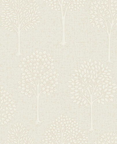FD42202 Fine Decor Quartz Cream Gold Trees Textured Glitter Wallpaper