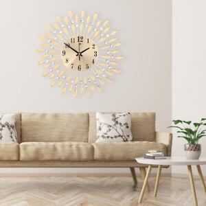 Details zu Luxus 3D Leise Wanduhr Modern Metall Kunst Uhr für Büro  Wohnzimmer Schlafzimmer
