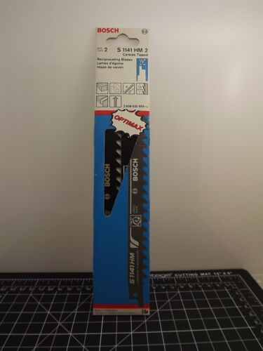 """Bosch S1141HM2 9/"""" Reciprocating Saw Blade 2 Pack NEW"""