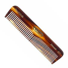 Kent OT 0T Hand-Made Comb For Hair, Moustache & Beard - 110mm Fine Coarse Pocket