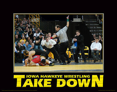 Iowa Hawkeyes Wrestling Motivational Poster Art Print Dan Gable Tom Brands MVP33