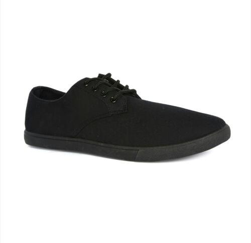 lacets de Chaussures en à textile toile Plimsoll en noir sport pour hommes baskets zUxfU4w