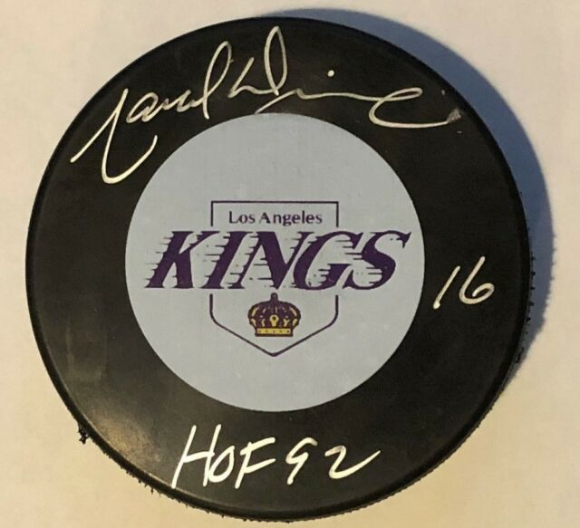 MARCEL DIONNE SIGNED AUTOGRAPHED LOS ANGELES KINGS PUCK HOF THE GOALIE