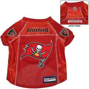 buy popular 88f7b 63709 Details about NEW TAMPA BAY BUCCANEERS PET DOG PREMIUM NFL ALTERNATE JERSEY  w/NAME TAG