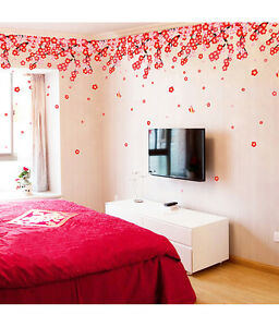5700026 | Wall Stickers Flowers Pink & Red Romantic Cherry Wedding Decoration