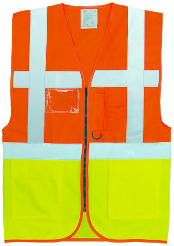 Executive Hi Vis Visibility Two Tone Safety VestWork WearWaistcoat