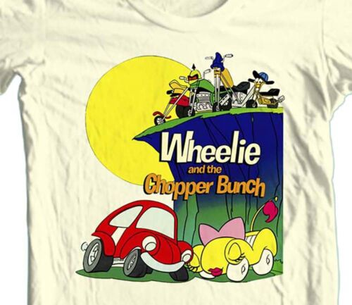 Wheelie and Chopper Bunch T-shirt 80/'s Saturday Morning Cartoons 100/% cotton tee