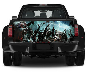 Vinyl Truck Tailgate Wrap Full Color Graphics Decal Zombie