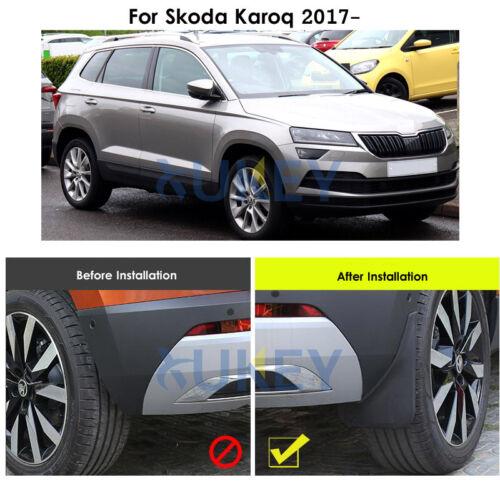 Passform Für Skoda Karoq 2017 2018 Schmutzfänger Spritzlappen Vorne+Hinten
