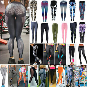 Women's Sports Workout Gym Yoga Running Fitness Leggings Pants Running Trousers