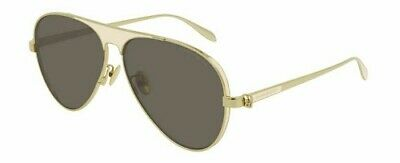 Alexander Mcqueen Am0201s 61 005 Sunglasses Gold White Brown Occhiale Sole