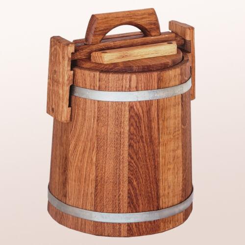 20L ...30L • Oak Barrel w// Lid for Pickles /& Sauerkraut — Fermentation KIT
