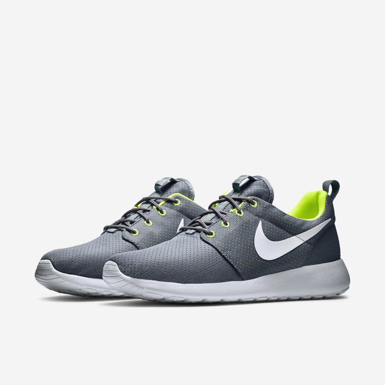 Nike Rosherun Cool Grey White Volt running roshe 511881-091