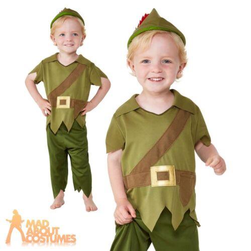 Boys Robin Hood Costume Kids Toddler Book Week Fancy Dress Medieval Peter Pan