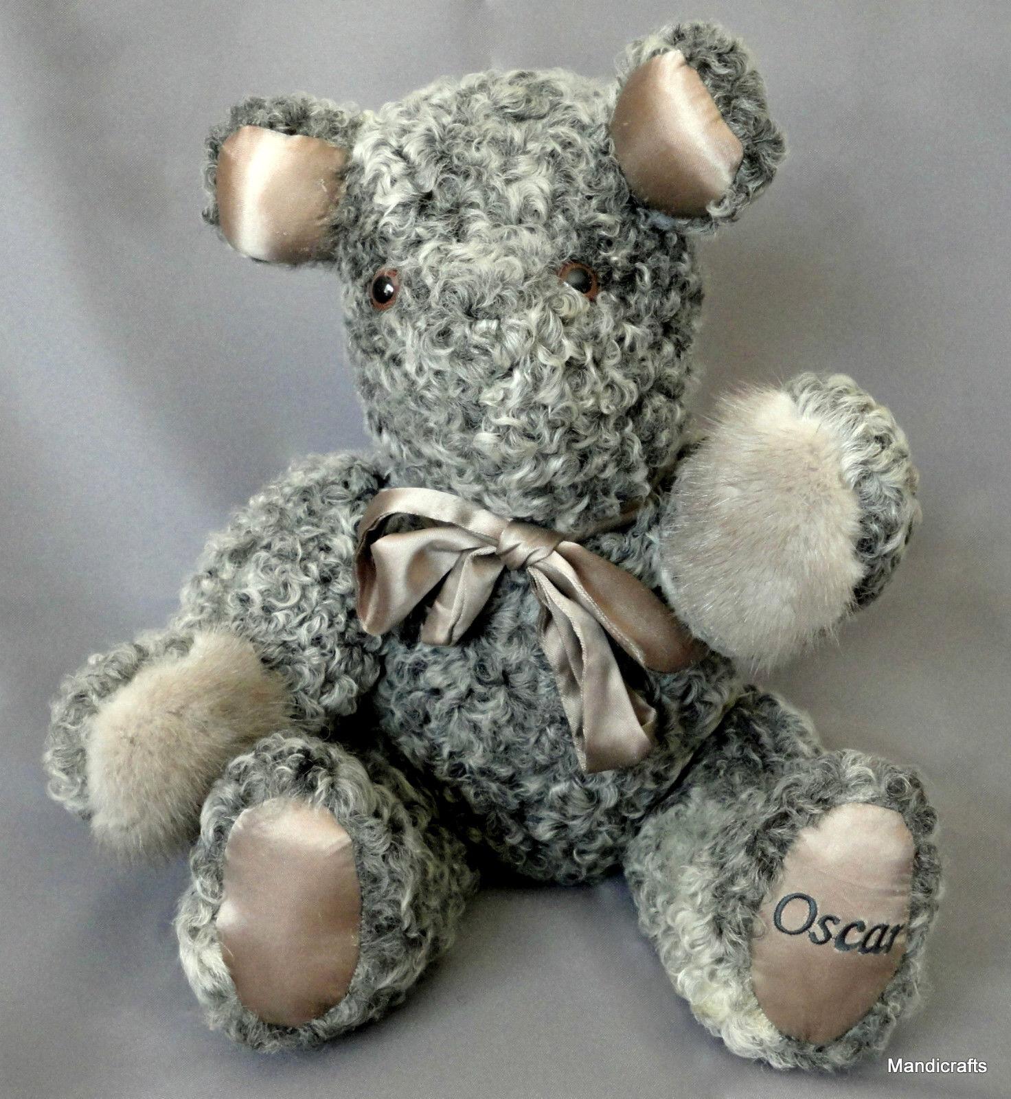 Artist Teddy orso Osauto 17in Persian Lamb Plush Mink Fur Pads Myra B 2004 Tag