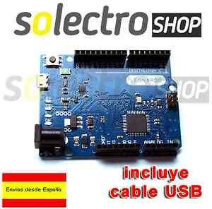 LEONARDO R3  ATmega32u4  100% Compatible con Arduino + cable  USB B0004