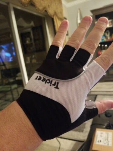 Trideer Padded Half Finger Cycling Gloves Touch-Screen Mountain Road Glo.. New