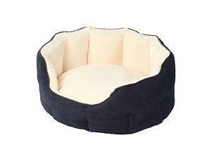 Image Is Loading Navy Memory Foam Oval Snuggle Dog Puppy Cat