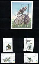 Angola 1138 - 1141 +1147 - Raptors. MNH OG.   #02 ANG1138