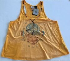 NEW Harley Davidson Women's 3W Tank Top SKULL Unique Size 3XL Leather Trim BEADS