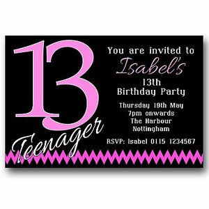 Image Is Loading 10 Personalised BOYS Amp GIRLS Teenager 13th Birthday