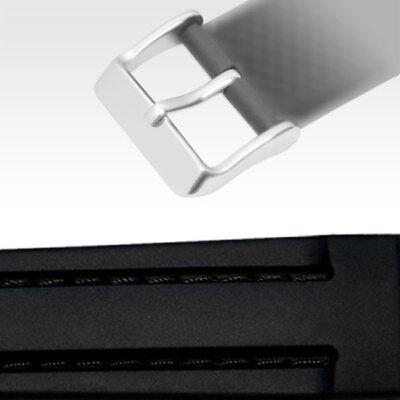 Uhrenarmbänder Herzhaft 20mm Silikonband Dornschließe Schwarz Genäht Schwarze Naht Gute WäRmeerhaltung