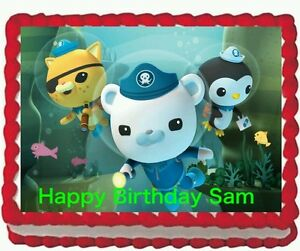 Image Is Loading Octonauts Birthday Party Edible Cake Topper 1 4