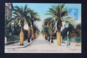 Tarjeta-Postal-Antigua-CPA-Hyeres-Avenida-Beauregard