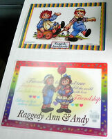 Set Of 4 Raggedy Ann And Andy Placemat Choice Of 2 Designs