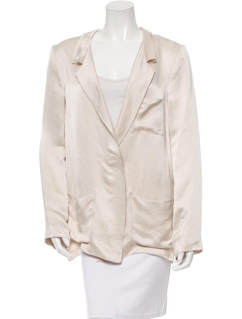 LANVIN Runway blancoo Marfil Seda Metálico Blazer Chaqueta de abrigo  azulsa Prenda para el torso S 2 Beige  compra limitada