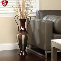 Tall Metal Vase Décorative Home Floor Large Flower Display Décor Elegant Living