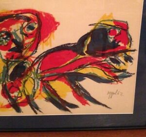 KAREL-APPEL-lithograph-034-Man-and-Animal-034-hand-signed-limited-edition-158-210