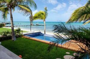 Casa en venta Frente Al Mar en Cancun.