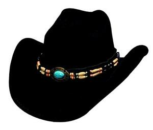 NEW Bullhide Hats 0581Bl Run A Muck Collection Fortune Black Cowboy ... ba8456256a62