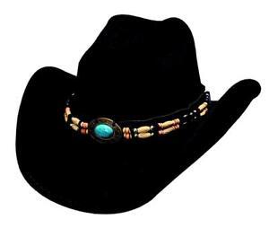 b27b312386e NEW Bullhide Hats 0581Bl Run A Muck Collection Fortune Black Cowboy ...