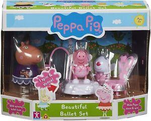 Peppa Pig Peppa's Beautiful Ballet Set & 4 Figurines Figure Toy Playset