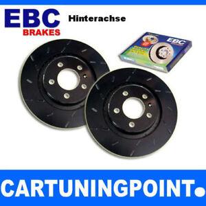 EBC-Discos-de-freno-eje-trasero-negro-Dash-Para-Audi-A4-Avant-8ed-B7-usr1203