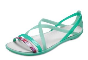 b098a2c30476 Crocs NEW Isabella Cut Out Graphic mint green comfort strappy ...
